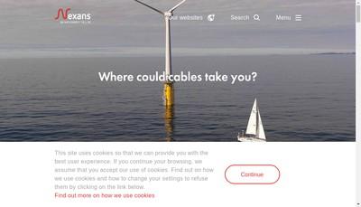 Site internet de Nexans Wires