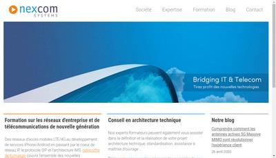 Site internet de Nexcom Systems