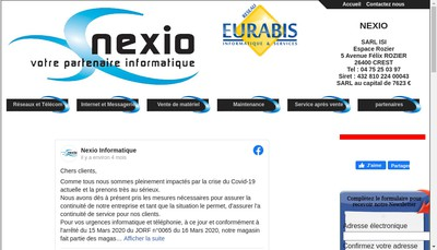 Site internet de SARL Informatique Services Internet