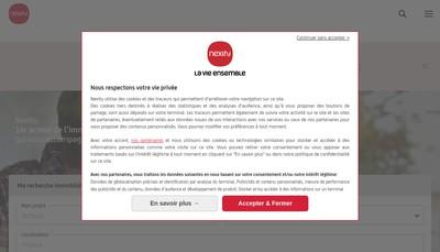 Site internet de Nexity Grands Investisseurs Prives