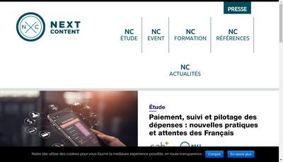 Site internet de Next Content