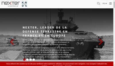 Site internet de Nexter Training