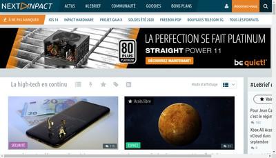 Site internet de Pc Inpact - Inpact Hardware - Prix du Ne