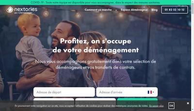 Site internet de Nextories