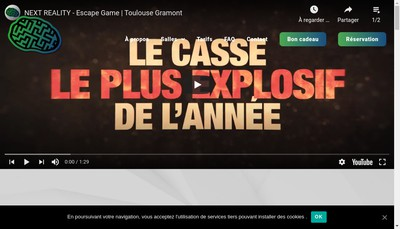 Site internet de Next Reality Escape Game