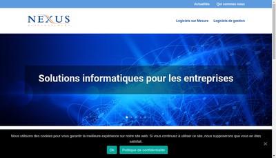Site internet de Nexus Developpement