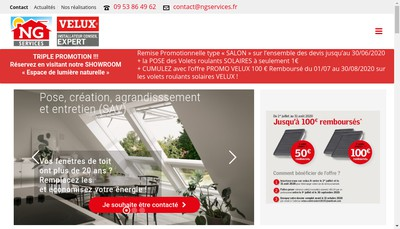 Site internet de SARL Ng Services