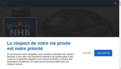 Site internet de Nhb Automobiles