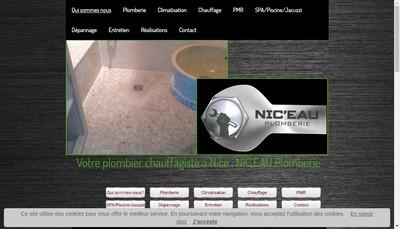 Site internet de Regnicoli Nic'Eau Plomberie