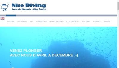 Site internet de Nicea Diving