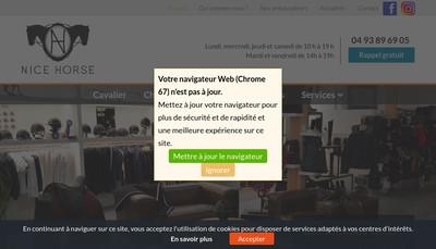Site internet de Nice Horse