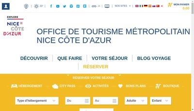 Site internet de Office de Tourisme Metropolitain Nice Cote d'Azur