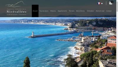 Site internet de Nice Vallees