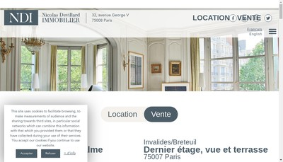 Site internet de Nicolas Devillard Immobilier