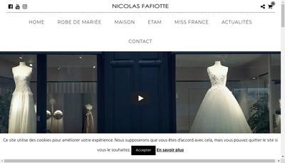 Site internet de Nicolas Fafiotte Couture