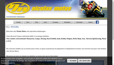 Site internet de Nicolas Motos