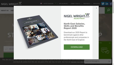 Site internet de Nigel Wright International Limited