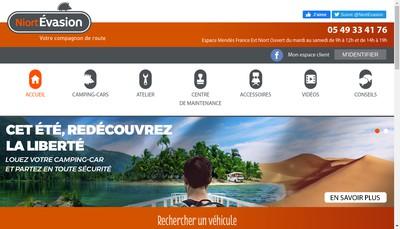 Site internet de Niort Evasion