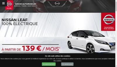Site internet de Sinoir Automobiles