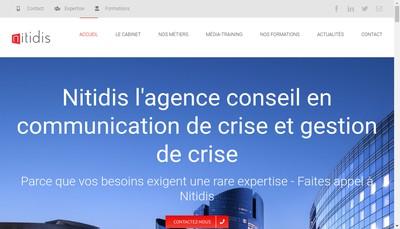Site internet de Comcrise, Nitidis