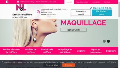 Site internet de N &L Cosmetics