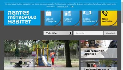Site internet de Nantes Metropole Habitat-Office Public de l'Habitat de la Metropole Nantaise