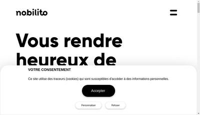 Site internet de Nobilito