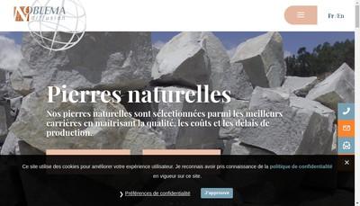 Site internet de Noblema Diffusion