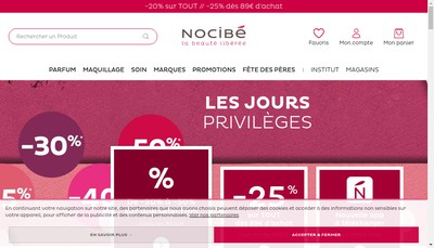 Site internet de Groupe Nocibe