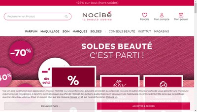 Site internet de Nocibe