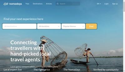 Site internet de Nomadays