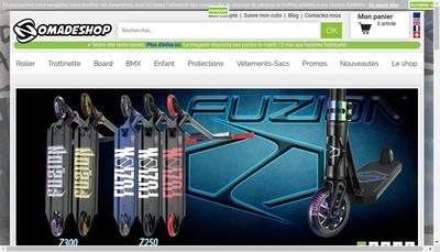 Site internet de Nomades Roller Location Jeux