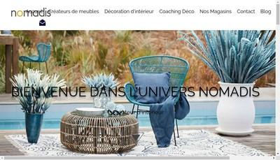 Site internet de Nomadis