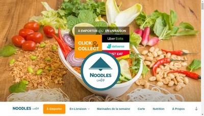 Site internet de Noodles Chop