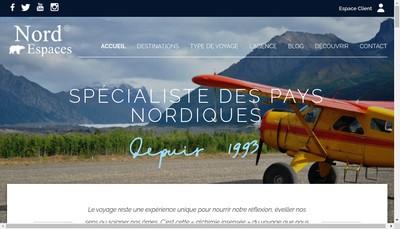 Site internet de Nord Espaces