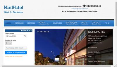 Site internet de Nord Hotel