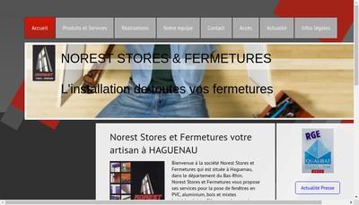 Site internet de Norest Stores & Fermetures