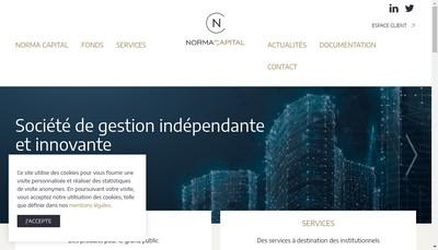 Site internet de Norma Capital