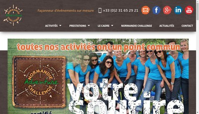 Site internet de Normandie Challenge Organisation