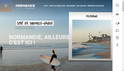 Site internet de Normandie Vacances