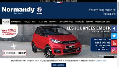 Site internet de Normandy Sans Permis