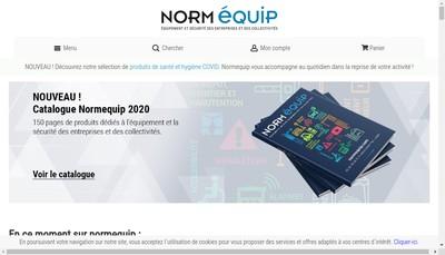 Site internet de Normequip
