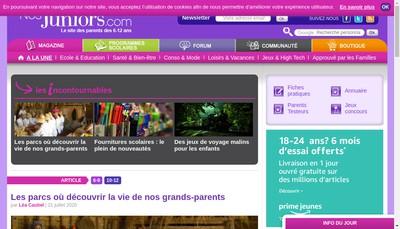 Site internet de Nosjuniors Com