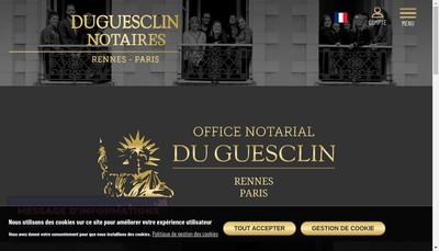 Site internet de Duguesclin Finances