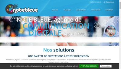 Site internet de Note Bleue