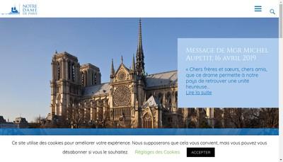 Site internet de Paris Notre Dame