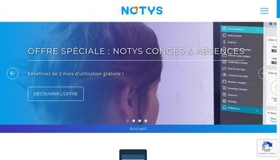 Site internet de Notys Solutions