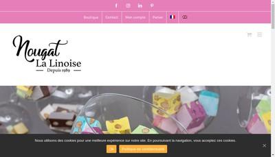 Site internet de Nougat la Linoise