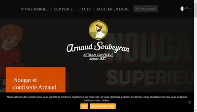 Site internet de Arnaud Soubeyran