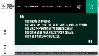Site internet de Les Vignerons de Buxus